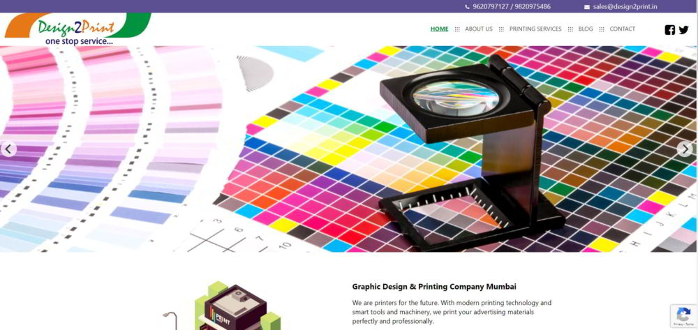 Design2Print New Website Launches May 2019 Image